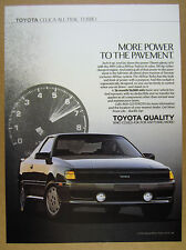 1989 Toyota Celica All-Trac Turbo car photo vintage print Ad