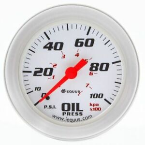 "Equus 2"" Engine Oil Pressure Mechanical Gauge 8000 Series 0-100 psi (8244)"