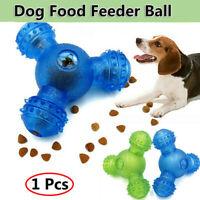 THREE-HOLE Pet Dog Toy Interactive Food Dispenser Feeder IQ Puzzle Treat  Ball