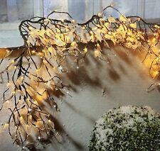 LED Lichterkette Zweig  NEU für Aussen 200 LED ´s 5 mit Blätter + Tropfen