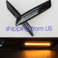 Amber LED Side Marker For BMW E60 E82 E83 E88 E90 E91 Black Smoke Lens F10 Style