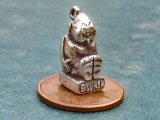 Lucky Billiken Charm Sterling Silver 3D Vintage Good Luck Success Ought to be