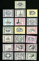 Costa Rica Stamps # C227-45 VF OG NH+LH Scott Value $38.80