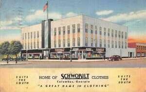Columbus Georgia Schwobilt Clothing Store Vintage Postcard AA31921