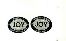 SET OF 2 SOUTHERN REGION GLOBES 1994 AUSTRALIA JOY COAL MINING STICKERS # 248