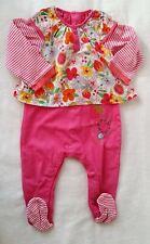 b82324b39224d Pyjama coton rose fleurs bébé fille été 12 MOIS CATIMINI