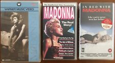 MADONNA *RARE 3x VHS VIDEO LOT First Warner Music Videos - In Bed With Madonna