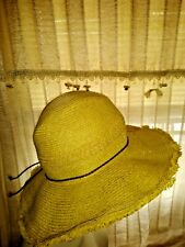 BLOW OUT SALE @ J CREW OUTLET STORE Beach Straw Floppy Brim Fedora Hat ??ts17j