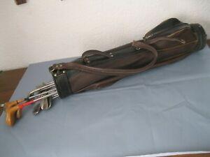 Vintage Golf-Set von Dunlop 11 Schläger + Leder-Tasche + Bälle