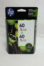 HP 60 Tri-Color + 60 Tri-Color Ink Cartridge CZ072FN 2/2016
