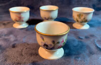 """K&A Franconia-Krautheim Selb Bavaria """"Meadow Flowers"""" Egg Cup Holders, Lot of 4"""