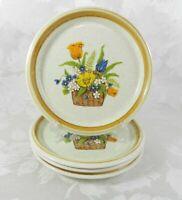"Set of 4 Salad Plates Mikasa Stone Manor ""Garden Bouquet"" 7-3/4"" Japan"