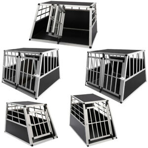 Aluminium Pet Car Crate Travel Cage Heavy Duty Dog Puppy Cat Transport Kennel UK