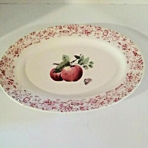 """Pfaltzgraff Platter 12"""" Pattern is Delicious Made in USA Collectible"""