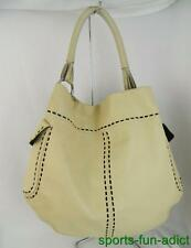 PRADA Cream Beige Soft Leather Shoulder Tote Hand Bag Tote Purse