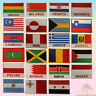 National Country Flags Embroidered Sew/Iron On Patch Badge For Clothes Etc