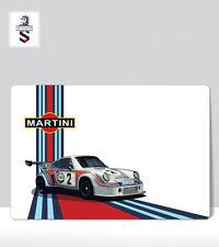 "Martini Porsche 911 Car number 2 Vintage Racing. Print Aluminum poster 18 ""x 24"""