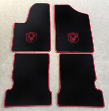 Autoteppich Fußmatten für Fiat Seicento u. Abarth 1998-10 schw. rot 4tlg Velours