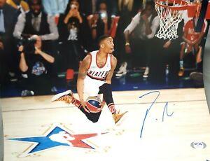 Portland Trailblazers Damian Lillard Autographed 11x14 Photo