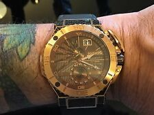 Renato Mens Wilde Beast II Extreme Master Horologe Gold/PVD Canvas Strap