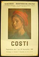 Affiche exposition Raffaele COSTI (1909-1972) Galerie Bernheim-jeune 7 nov 1969