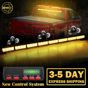 "35"" 32 LED Emergency Warning Traffic Advisor Arrow Strobe Light Bar Amber Yellow"