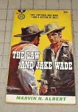 1956 THE LAW AND JAKE WADE By Marvin H. Albert GD Condition (1st Print) PB Book