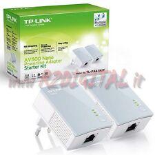 ADATTATORE TL-PA411 KIT POWERLINE RETE LAN ETHERNET 500Mbps PROLUNGA SENZA FILI