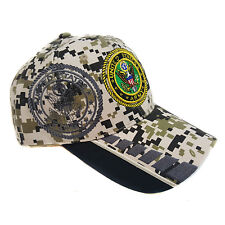 US MILITARY ARMY DIGITAL CAMOUFLAGE (Black Color Outer Brim) Hat Cap