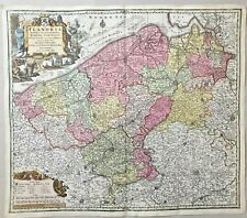 1740 FLANDRIA BEAUTIFUL COLORED MAP SEUTTER BELGIUM VLAANDEREN FLANDRE ORIGINAL