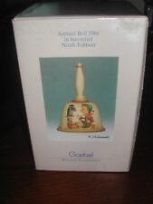 Goebel Hummel Annual Bell. 1986-9th Edition. Made in Germany. Beaitiful keepsake