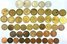 50pcs Circulated German Coins Deutschemark 1 2 5 10 50 pfennig  1948-1996   O21C