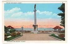 ca.1920 postcard- Braves Monument, Quebec.