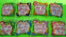8 McDonald's 101 Dalmatians Flip Car Toys Set 1998 Disney Cruella Puppy Pig MIP