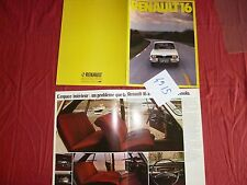 N°4915   / RENAULT 16  : catalogue octobre 1974