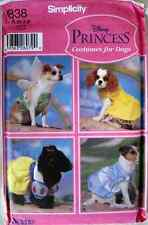 Simplicity 5838 Disney Princess Costume Patterns for Dogs
