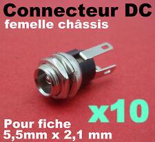 946/10# Prise femelle châssis 2,1 x 5,5mm DC jack 10pcs