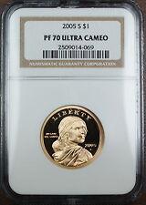 2005-S Sacagawea Dollar Proof Coin, NGC PF-70 UC, Perfect Coin!