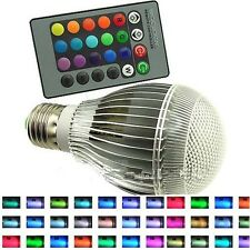 9W RGB E26 led bulb indoor lamp spot light 16 Color changing +IR Remote Control