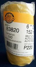 "Norton Gold Reserve 83820 6"" DA Stick Back 220 Grit Sandpaper Roll 100 disc"