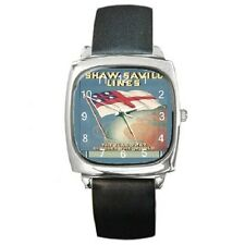 SHAW SAVILL LINE 1930'S POSTER REPRO WRISTWATCH **SUPERB ITEM ***
