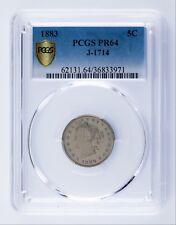 1883 Pattern Nickel Proof J-1714 Graded by PCGS as PR64