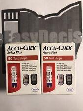 100 Accu-Chek Aviva Plus Diabetic Test Strips 2 50 Ct 10/30/2020 & 11/30/2020