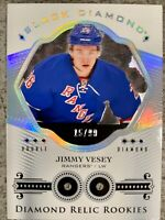 2016-17 UD BLACK DIAMOND JIMMY VESEY DOUBLE ROOKIE RELICS NY RANGERS /99 SP DUAL