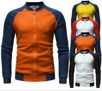 Korean Men's Slim Fit Sweatshirt Hoodie Hooded Sweater Coat Jacket Outwear