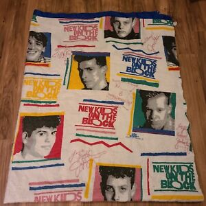 New Kids On The Block Vintage 90s Blanket/Throw 84x72""