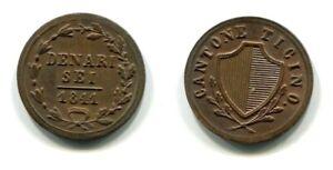 6 Denari Canton Ticino 1841 Kupfer