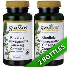 Rhodiola Ashwagandha Korean Ginseng Complex 2X60 Caps by Swanson Premium