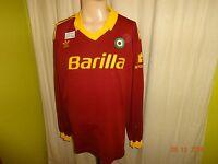 "AS Rom Original Adidas Langarm Heim Trikot 1991/92 ""Barilla"" + Nr.8 Gr.XL TOP"