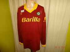 "AS Rom Original Adidas Langarm Heim Trikot 1991/92 ""Barilla"" + Nr.8 Gr.XL TOP"